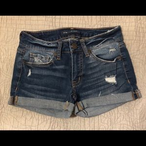 Aeropostale short denim shorts with rips sz 000
